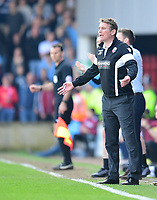 Bolton Wanderers manager Phil Parkinson reacts to a decision that went against his side<br /> <br /> Photographer Chris Vaughan/CameraSport<br /> <br /> The EFL Sky Bet League One - Scunthorpe United v Bolton Wanderers - Saturday 8th April 2017 - Glanford Park - Scunthorpe<br /> <br /> World Copyright &copy; 2017 CameraSport. All rights reserved. 43 Linden Ave. Countesthorpe. Leicester. England. LE8 5PG - Tel: +44 (0) 116 277 4147 - admin@camerasport.com - www.camerasport.com