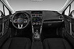 Stock photo of straight dashboard view of 2017 Subaru Forester Comfort 5 Door Wagon Dashboard