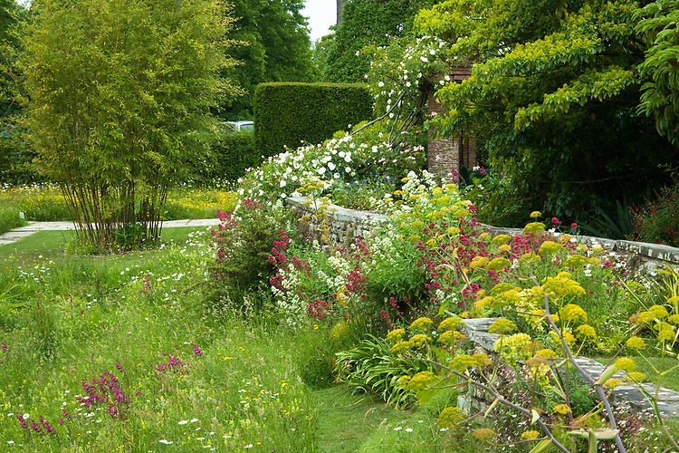 Lower Terrace and Upper Moat, Great Dixter, early June.