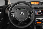Steering wheel view of a 2010 Citroen C4 Millenium 5 Door Hatchback 2WD