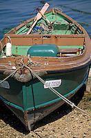 Europe/France/Bretagne/29/Finistère/L'Aber Wrach: Détail d'un canot de pêcheur