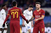 Henrikh Mkhitaryan of AS Roma , Carles Perez of AS Roma <br /> Roma 20-02-2020 Stadio Olimpico <br /> Football Europa League 2019/2020 Round of 32 first leg <br /> AS Roma -  Kaa Gent <br /> Photo Andrea Staccioli / Insidefoto