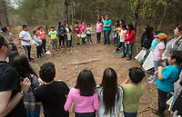 NWA Democrat-Gazette/BEN GOFF @NWABENGOFF<br /> Fourth graders from Brighton Park school in Chicago take part in an exercise Friday, April 13, 2018, at Ozark Natural Science Center near Huntsville. The 4th grade students from Brighton Park, a public charter school, are visiting for a five day immersive environmental education program.