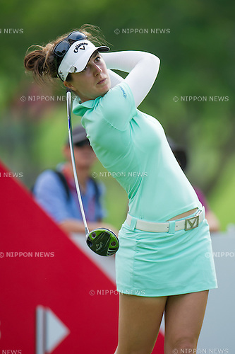 Sandra Gal (GER),.MARCH 3, 2013 - Golf :.Sandra Gal of Germany tees off during the final round of the the HSBC Women's Champions golf tournament at Sentosa Golf Club in Singapore. (Photo by Haruhiko Otsuka/AFLO)