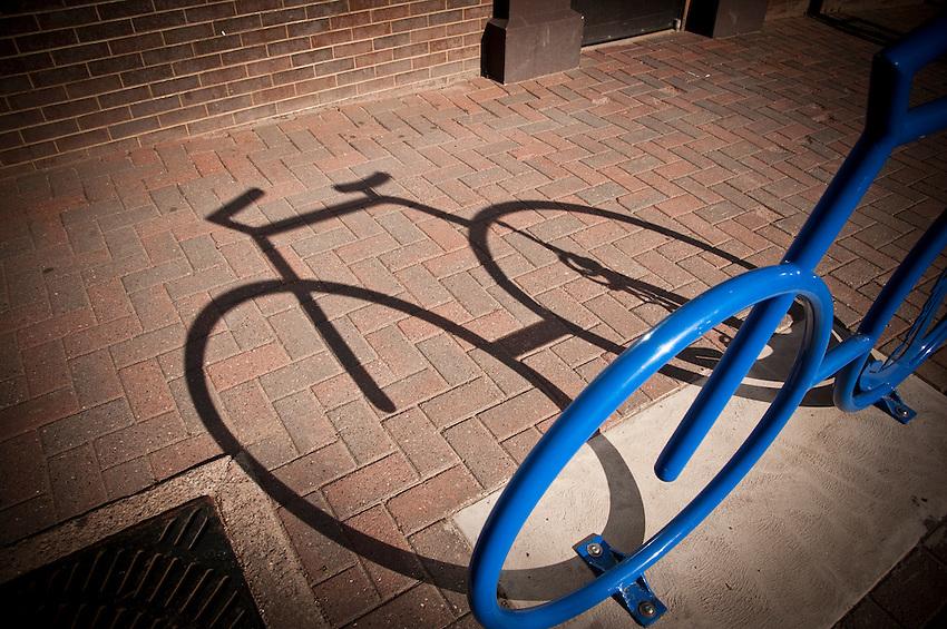 Bike racks in downtown Marquette Michigan.