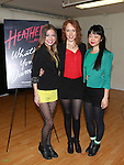Elle McLemore as 'Heather McNamara', Jessica Keenan Wynn as 'Heather Chandler' and Alice Lee as 'Heather Duke.' attend the Meet & Greet the stars and creative team of 'Heathers The Musical' on February 19, 2014 at The Snapple Theatre Center in New York City.
