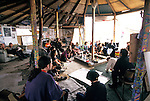 Permaculture workshop in the  communal roundhouse. Pure Genius housing  protest, Wandsworth Eco village. The Guiness Site. Wandsworth .