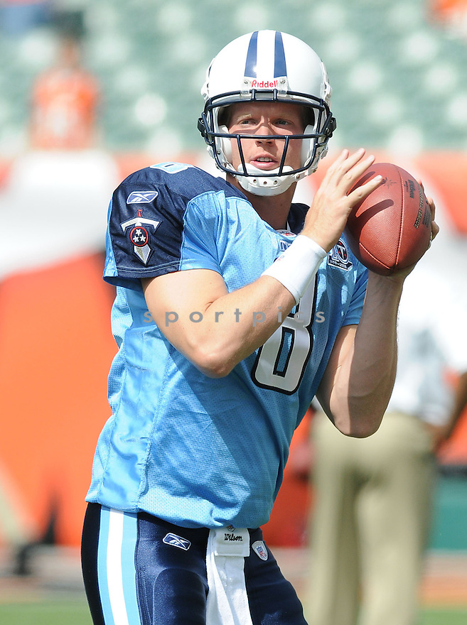 CHRIS SIMMS, of the Tennessee Titans , in action during the Titans game against the Cincinnati Bengals in Cincinnati , Ohio on September 15, 2008..The Tennessee Titans won 24-10
