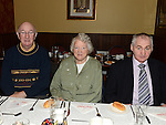 Michael and George Power and Betty Malone pictured at the Collon Senior Citizens Christmas party in Watter's. Photo:Colin Bell/pressphotos.ie