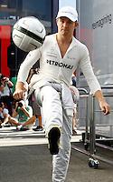 BUDAPESTE, 27 JULHO 2012 - F1 GP DA HUNGRIA -  O piloto alemao da equipe Mercedes GP Nico Rosberg durante treino para o GP da Hungria que acontece nesse final de semana em Budapeste. (FOTO PIXATHLON / BRAZIL PHOTO PRESS).
