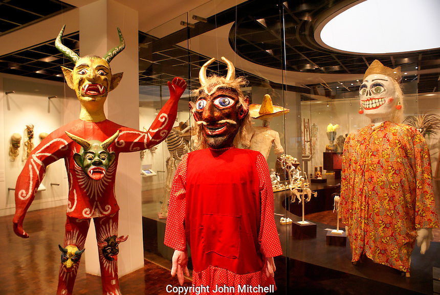 Gallery in the Museum of Popular Art, Mexico City. The Museo de Arte Popular, which opened in 2006, showcases folk art from all of Mexico's 31 states.