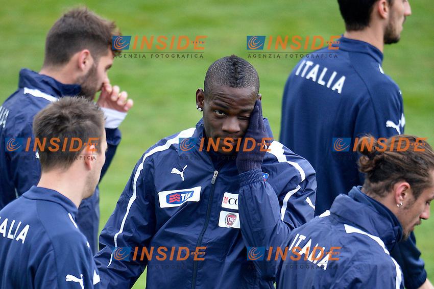 Mario Balotelli.05/02/2013 Coverciano .Allenamento Nazionale Italia.Training .Foto Alfredo Falcone Insidefoto .