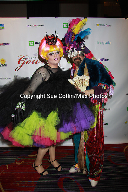 "Empress XXV Pepperica Swirl & Emperor XX Vanity Society at the Imperial Court of New York's 26th ""Night of a Thousand Gowns"" on March 31, 2012 at the New York Marriott Marquis, New York City, New York.  (Photo by Sue Coflin/Max Photos)"