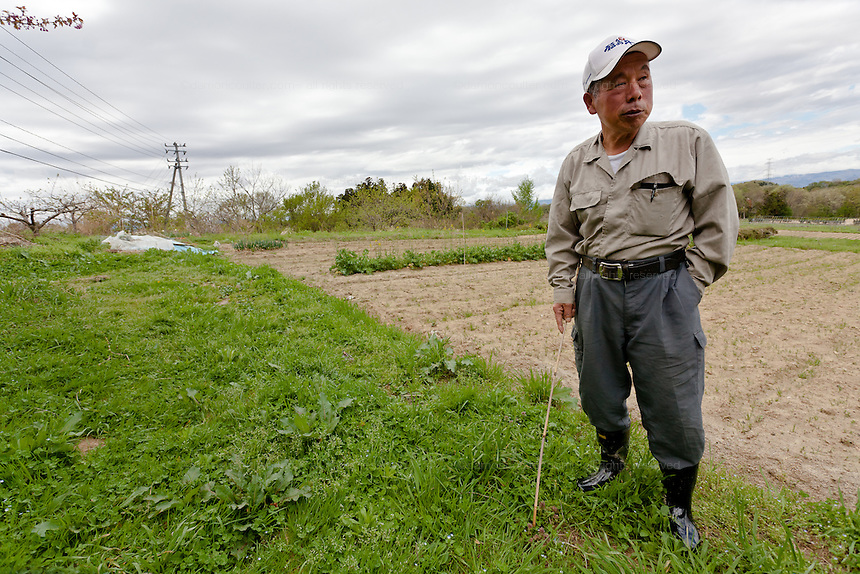 Koichi Yogiashi, a farmer that has been put out of business by radioactive contamination from the March 11th disaster at Daichi nuclear power station at his home in Miharu, Fukushima, Japan. Friday May 4th 2012