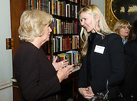 09 March 2016 - London, England - Camilla Duchess of Cornwall, President of WOW, speaks with British fashion designer Amanda Wakeley at a reception for the Women of the World Festival (WOW) at Clarence House, in central London. Photo Credit: Alpha Press/AdMedia