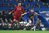 Chelsea's Billy Gilmour and Liverpool's Adam Lallana<br /> <br /> Photographer Rob Newell/CameraSport<br /> <br /> The Emirates FA Cup Fifth Round - Chelsea v Liverpool - Tuesday 3rd March 2020 - Stamford Bridge - London<br />  <br /> World Copyright © 2020 CameraSport. All rights reserved. 43 Linden Ave. Countesthorpe. Leicester. England. LE8 5PG - Tel: +44 (0) 116 277 4147 - admin@camerasport.com - www.camerasport.com