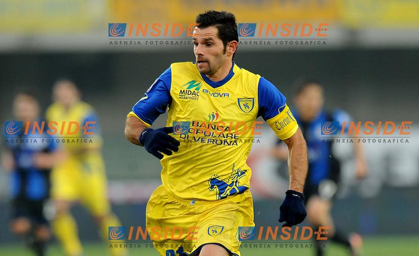 """Sergio PELLISSIER (Chievo Verona).Verona 4/12/2011 Stadio """"Bentegodi"""".Serie A 2011/2012.Football Calcio Chievo Verona Vs Atalanta.Foto Insidefoto Alessandro Sabattini."""