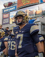 Pitt quarterback Thomas MacVittie. The Pitt Panthers defeated the Marshall Thundering Herd 43-27 on October 1, 2016 at Heinz Field in Pittsburgh, Pennsylvania.