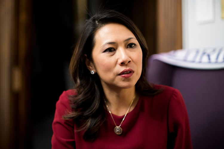 UNITED STATES - MARCH 6: Rep. Stephanie Murphy, D-Fla., speaks with Roll Call in her office on Tuesday, March 6, 2018. (Photo By Bill Clark/CQ Roll Call)