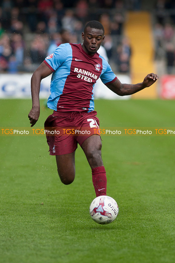 Theo Robinson of Scunthorpe United<br />  - Scunthorpe United vs Gillingham - Sky Bet League One Football at Glanford Park, Scunthorpe, Lincolnshire - 25/04/15 - MANDATORY CREDIT: Mark Hodsman/TGSPHOTO - Self billing applies where appropriate - contact@tgsphoto.co.uk - NO UNPAID USE