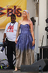 Model walk in a Mariela Color outfit by Mariela Caridad, during Harlem Week 2017 at 135th Street and St. Nicholas Avenue in New York City on August 19, 2017. A model walks in a Mariela Color outfit by Mariela Caridad, during Harlem Week 2017 at 135th Street and St. Nicholas Avenue in New York City on August 19, 2017.