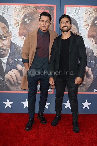 HOLLYWOOD, CA - MAY 10: Staz Nair and Joe Naufahu at the 'All The Way' Los Angeles Premiere at Paramount Studios on May 10, 2016 in Hollywood, California. Credit David Edwards/MediaPunch