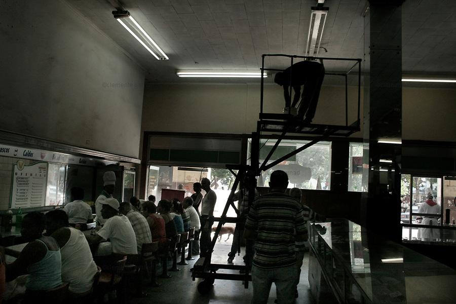 Havana (Cuba). September 2006..La Habana Vieja. Store.