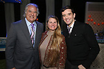Stewart F. Lane, Bonnie Comley and Michael Urie  behind the scenes as BroadwayHD Films 'Bright Colors And Bold Patterns' directed by Michael Urie at The Soho Playhouse on April 9, 2018 in New York City.
