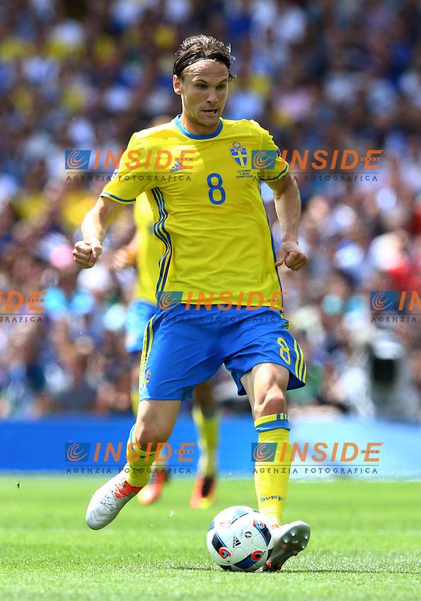 Albin Ekdal Sweden<br /> Toulouse 17-06-2016 Stade Velodrome Footballl Euro2016 Italy - Sweden  / Italia - Svezia Group Stage Group E. Foto Matteo Ciambelli / Insidefoto
