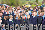 CELEBRATIONS:  Students from Scoil Ide in Curranes at the official opening of a new extension to the school on Friday last.   Copyright Kerry's Eye 2008