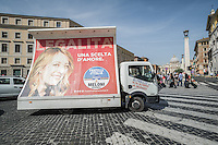 ITA - Domenica 5 giugno 2016 si vota a Roma per eleggere il nuovo Sindaco. L'attmosfera nella città prima del voto, alcuni manifesti della candidata Giorgia Meloni, per Fratelli D'Italia, in giro nel Vaticano. ENG - Municipal elections will be held in Rome on 5 June 2016. In the photo an election posters of Giorgia Meloni, , a candidate for mayor, in Vatican City. Rome, 28 may 2016. Adamo Di Loreto/BuenaVista*photo