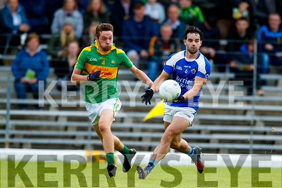 Fionán Clifford South Kerry in action against Cormac Coffey  Kerins O'Rahillys in the Kerry Senior Football Championship Semi Final at Fitzgerald Stadium on Saturday.