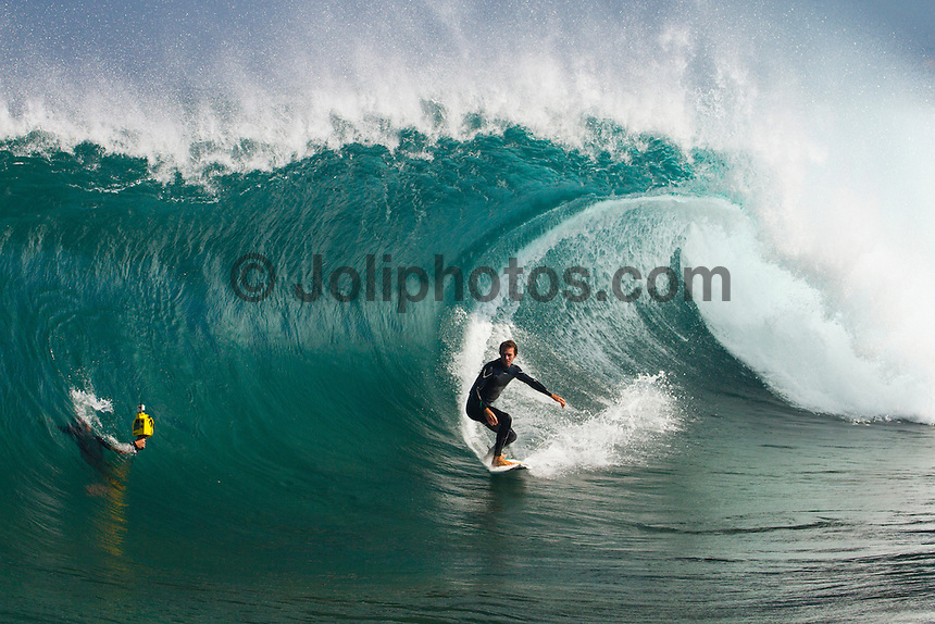 Surfers Point Margaret River, Western Australia/Australia (Wednesday, March 19, 2012) Cory Lopez (USA) surfing The Box. A clean six - eight foot swell was rolling in this morning with spots all along the coast firing. Photo: joliphotos.com