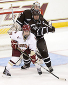 Katie Jamieson (Brown - 25), Taylor Wasylk (BC - 9), Samantha Stortini (Brown - 24) - The Boston College Eagles defeated the visiting Brown University Bears 5-2 on Sunday, October 24, 2010, at Conte Forum in Chestnut Hill, Massachusetts.