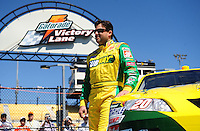 Apr 10, 2008; Avondale, AZ, USA; NASCAR Sprint Cup Series driver Tony Stewart during practice for the Subway Fresh Fit 500 at Phoenix International Raceway. Mandatory Credit: Mark J. Rebilas-