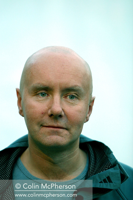 Controversial Scottish author Irvine Welsh, pictured at the Edinburgh International Book Festival, where he talked about his newly-released follow-up to ?Trainspotting?, entitled ?Porno'................