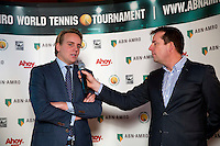 Rotterdam, Netherlands, Januari 06, 2016,  Press conference ABNAMROWTT, Joris Hermsen is being interviewd by Edward van Cuilenborg, <br /> Photo: Tennisimages/Henk Koster