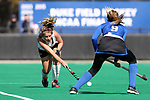 DURHAM, NC - NOVEMBER 11: Miami's Leonor Berlie (SUI). The Duke University Blue Devils hosted the Miami University (Ohio) Redhawks on November 11, 2017 at Jack Katz Stadium in Durham, NC in an NCAA Division I Field Hockey Tournament First Round game. Duke won the game 4-2.