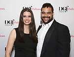 Janine McGuire and Arri Lawton Simon attend the reception for the 2018 Presentation of New Works by the DGF Fellows on October 15, 2018 at the Playwrights Horizons Theatre in New York City.