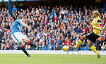 Lee Wallace scores for Rangers as Darren Cole attempts to block