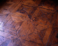 Detail of a marquetry floor