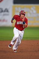 Auburn Doubledays catcher Jorge Tillero (7) running the bases during a game against the Mahoning Valley Scrappers on September 4, 2015 at Falcon Park in Auburn, New York.  Auburn defeated Mahoning Valley 5-1.  (Mike Janes/Four Seam Images)