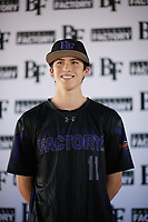 Jeremy Thompson (11) of Samuel Champion High School  in Boerne, Texas during the Baseball Factory All-America Pre-Season Tournament, powered by Under Armour, on January 12, 2018 at Sloan Park Complex in Mesa, Arizona.  (Zachary Lucy/Four Seam Images)