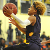 Ty-Shon Pannell #3 of Central Islip drives to the net during the third quarter of a non-league varsity boys basketball game against Elmont in the Richard Brown Nassau-Suffolk Challenge at Uniondale High School on Saturday, Jan. 13, 2018. Central Islip won by a score of 63-56.