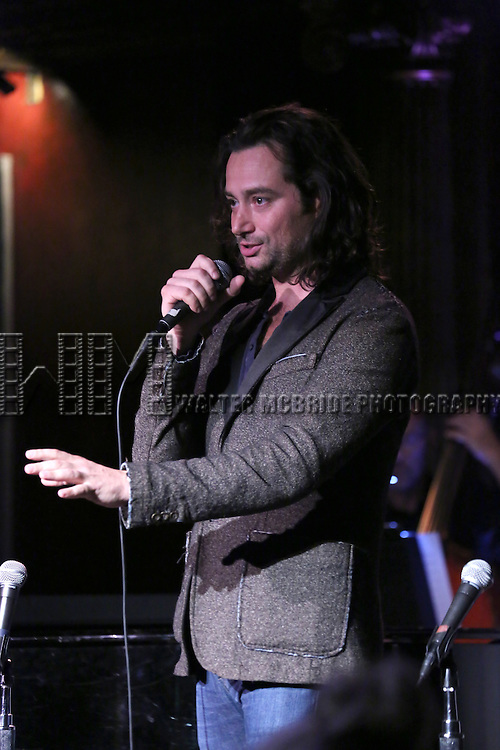 Constantine Maroulis performing at The Lilly Awards Broadway Cabaret at the Cutting Room on October 17, 2016 in New York City.