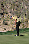 Geoff Ogilvy (AUS) in action on the 12th green during Day 3 of the Accenture Match Play Championship from The Ritz-Carlton Golf Club, Dove Mountain, Friday 25th February 2011. (Photo Eoin Clarke/golffile.ie)