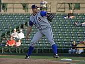 May 10, 2004:  Pitcher Jason Standridge of the Durham Bulls, International League (AAA) affiliate of the Tampa Bay Devil Rays, during a game at Frontier Field in Rochester, NY.  Photo by:  Mike Janes/Four Seam Images