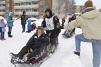 Dallas Seavey Saturday, March 3, 2012  Ceremonial Start of Iditarod 2012 in Anchorage, Alaska.