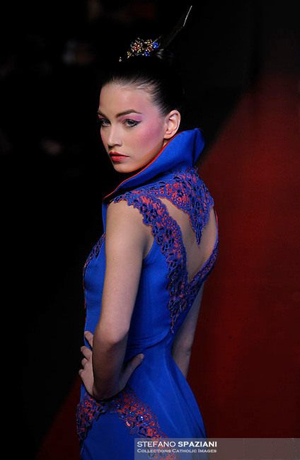 Palestine Fashion Designer Jamal Taslaq  featured at Rome Fashion Week,Fashion show. Presentation of S/S 2013.Italian Haute Couture collection, January 28, 2013