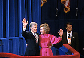 United States President Jimmy Carter and first lady Rosalynn Carter after he delivered his speech accepting his party's nomination for reelection as President of the United States at the 1980 Democratic National Convention in Madison Square Garden in New York, New York on August 13, 1980.<br /> Credit: Arnie Sachs / CNP